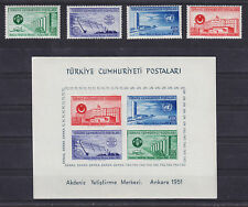 Turkey Sc 1051-1054a MNH. 1951 Ankara Buildings + Scarce Souvenir Sheet