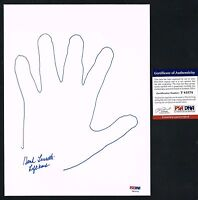 Hank Luisetti signed autograph auto Traced Hand Print on 8.5x11 Board PSA/DNA
