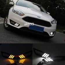 2x LED DRL Daytime Running Lights+Turn Signal Light for ford focus 2015-2017