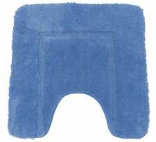SOFT BLUE CASHMERE-FEEL CHENILLE ANTI-SLIP PEDESTAL MAT 50 X 50CM
