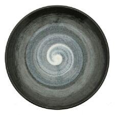 "Japanese Dinner Dish Plate 10.25""D Ceramic Fu-Un Swirl Artic Night Made in Japan"