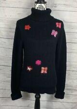 Womens I.N.C. International Concepts Wool Angora Rabbit Sweater Black Size Large