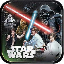 STAR WARS Classic LARGE PAPER PLATES (8) ~ Birthday Party Supplies Dinner Lunch