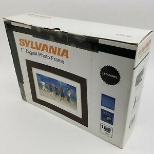 "New Sylvania SDPF787  7"" Digital Photo Frame Analog LCD Panel"
