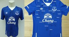 2015-16 Everton Home Shirt Signed by Squad with COA & Signature Map (11081)