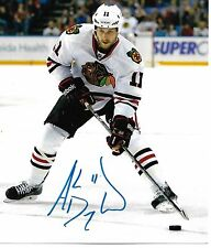 ANDREW DESJARDINS signed auto CHICAGO BLACKHAWKS STANLEY CUP 8x10 photo w/COA