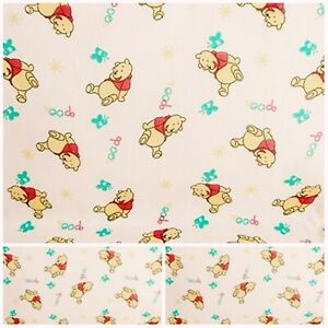 Polycotton Fabric WINNIE THE POO CHILDRENS Metre Material Special Offer