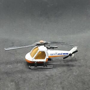 Matchbox 1-75 Series MBTV News Helicopter Vintage Die-Cast Vehicle 1980s