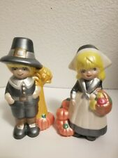 Thanksgiving Pilgrim Figurines  Home Decor