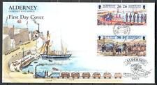 FDC E54 Alderney 1997 4v Ships Yacht Queen Victoria