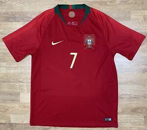 PORTUGAL NATIONAL TEAM 2018 2019 HOME JERSEY SHIRT SOCCER FOOTBALL #7 RONALDO