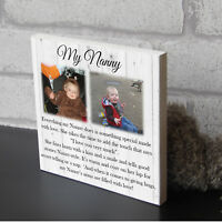 Large personalised Nanny and Grandad Nanna  Nan Mothers Day gift wooden plaque