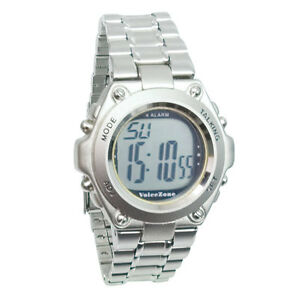 Man's 4 Alarm Talking Watch with Date - Low Vision, LCD Display, Loud, Mens
