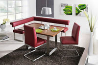 4 pc  Hydro Breakfast nook, dining bench, corner nook set ,20 colors avail. A+++