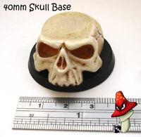 40mm Skull Resin Base Round , wargames 40k , scifi , fantasy, 28mm scale