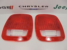 84-16 Dodge Jeep Ram New Taillamp Tail Lamp Lens Cover Set of 2 Mopar Factory Oe