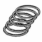 Tractor Piston Rings 2N61494RS Fits Ford Fits New Holland NH 2N 8N 9N (1939-52)