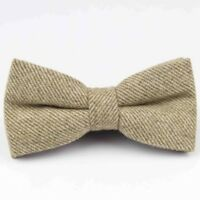 Country Brown Tweed / Wool Pre-Tied Mens Bow Tie. Great Quality & Reviews. UK.
