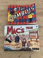2 Vintage Comic Strip Books The Gambols 1966 AndMac's Year 1990