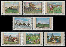 MONGOLIE N°495/502** Tableaux chevaux chameaux...1969 MONGOLIA Paintings Set MNH