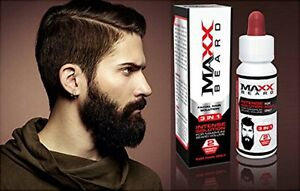 MAXX Beard - #1 PATCHY FACIAL HAIR SOLUTION - For Maximum Growth & Volume