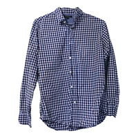 Banana Republic Mens Medium Soft Wash Purple Plaid Long Sleeve Button Down Shirt