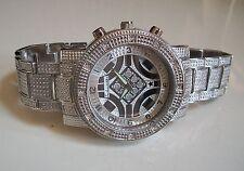 Man's Silver Finish Designer Rapper  Bracelet Hip Hop  Style  Fashion Watch