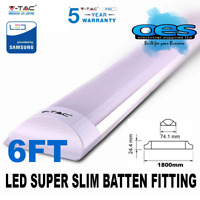 V-TAC LED 6FT 60W STRIPLIGHT BATTEN FITTING LIGHT TUBE SLIM WHITE 6400K VTAC