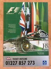 Silverstone F1 GP Poster 2000 Herbert Stewart