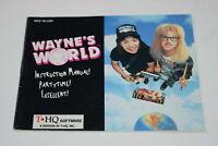 Wayne's World Nintendo NES Video Game Manual Only