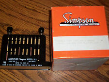 Simpsom Panel Meter Model 183 multipier