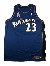 MICHAEL JORDAN 2001-02 MEARS GAME USED WORN WASHINGTON WIZARDS ROAD JERSEY