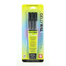 Sakura Gelly Roll Fine Point - 3pk BLACK Ink Pen Set
