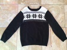 Gymboree Boys Joyful Holiday Fair Isle Christmas Sweater Snowflake S (5-6)