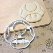 Mario Super Mushroom Cookie Cutter - Fondant Cake Cupcake Topper Mold Video Game