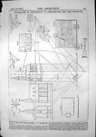 Old Application Photography Architecture Land Surveying Diagrams 1870 Victorian