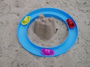 Sand Castle Moat Playset Garden Beach Sandpit Summer Fun (Boats not included)