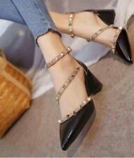 Pointed Studded Shoes (Black - Size 40)