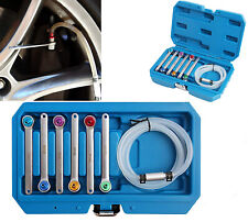6 pcs Bleeder Hose Kit With 12 Point Wrench For 7, 8, 9, 10, 11, 12mm Clutch