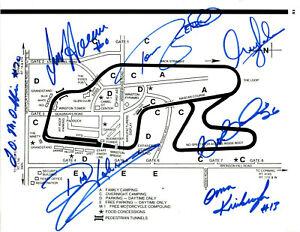 1990's NASCAR original hand signed autographed Watkins Glen map