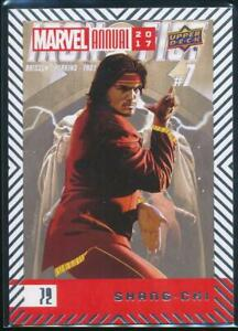 2018 Marvel Annual 2017 Trading Card #72 Shang-Chi