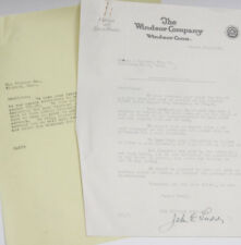 1928 Lamson Goodnow - Windsor Company Linen Ct - Accounting Ephemera L22C