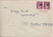 Sächs.Schwärzung AP 785 b II (2) MeF Brief Plauen nach Dresden Bedarf (B06735)