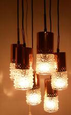 DDR Deckenlampe Kaskaden-Tropfen-Lampe Kupfer 70er Jahre Vintage Hängelampe