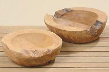 Dekoschale Teak 25 cm Durchmesser Schale Dekoration Holz Naturholz Holzschale