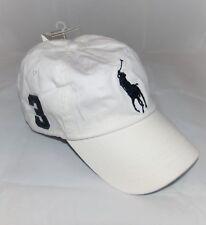$49.50 UNISEX POLO RALPH LAUREN WHITE NAVY BIG PONY ADJUSTABLE BASEBALL CAP HAT