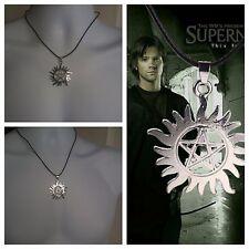 Hot Supernatural Dean Anti-Possession Symbol Pentagram Silver Pendant Necklace