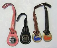 4 DOONEY & BOURKE Brass Leather DUCK Hangtags Replacement Hang Tag Purse Charms