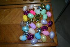 Lot of 34 medium (2 1/2 inch) refillable plastic eggs.