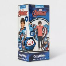 Marvel Avengers Captain American Shield Twin Cozy Wings Throw Blanket Blue/Red
